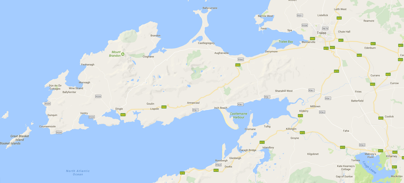 map of dingle